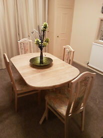 TABLE and 4 chairs ,