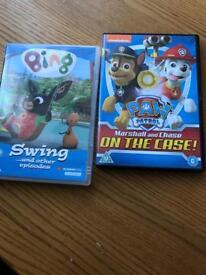 Bing and paw patrol dvd