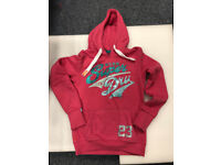ladies superdry pink hoody