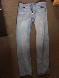 Levi 513 Slim Fit Stonewashed Jeans