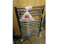 Chrome towel Rail with fittings and 2 lengths chrome plated copper pipe