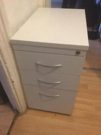 Free delivery - Filing cabinet/drawers white draws chest