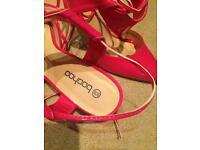 Boohoo pink heels