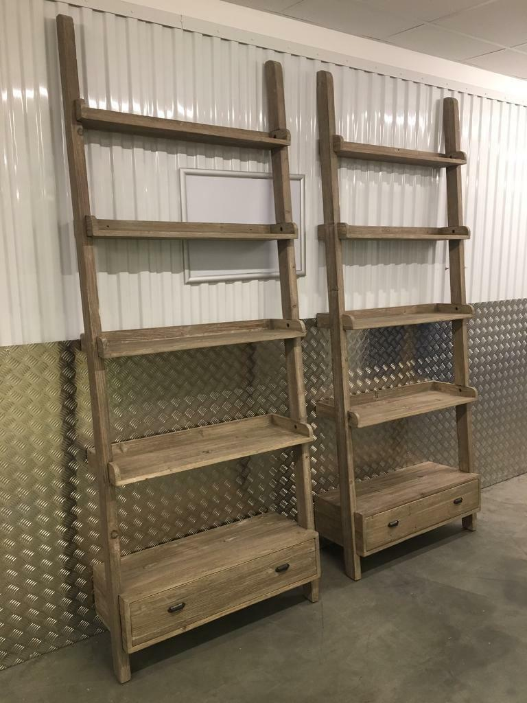 cheap for discount 7f29a 4448e Pair Loaf large ladder shelving units bookcase with drawers Laura Ashley  habitat John Lewis oka raft | in Sutton, London | Gumtree