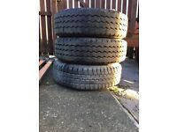 2 good year and 1 firestone tyres