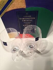 Brand New Boxed Sets of Dartington Crystal White Wine, Red Wine and Highball Glasses