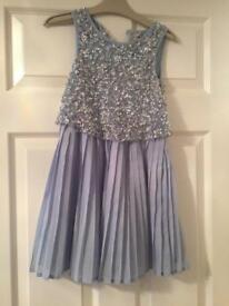 Girls Sequin Party Dress Age 7 -Next