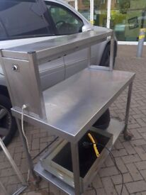 Catering equipment Restaurant heated food serving table stainless steel prep tables metal