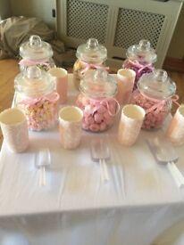Wedding sweety jars