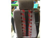 2 x Folding Mini Bus Seats with Seat Belts and Unwin Clamps from Mercedes Mobility Bus