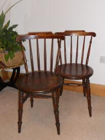 Victorian Ibex chairs x 2.
