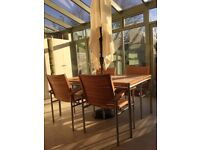 Outdoor/Conservatory Teak Wood Dining table & Chairs