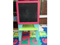 Childrens double sided wooden Art Easel