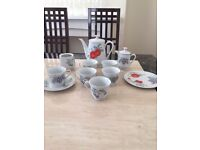 21 piece tea set