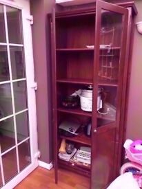 5 Tier Sturdy Solid WoodenPartly Visible Cupboard Cabinet