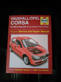 Haynes Vauxhall/Opel Manual (X Reg onwards)