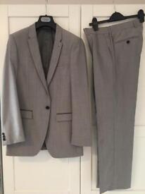 Mans Topman slim suit - light grey - 36S jacket / 30S trousers - £20