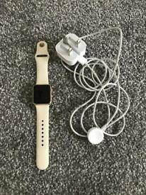 Apple Watch and charger 38mm screen