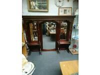 Beautiful antique mahogany dresser top/overmantle