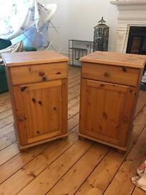 Set of Pine Bedside Tables