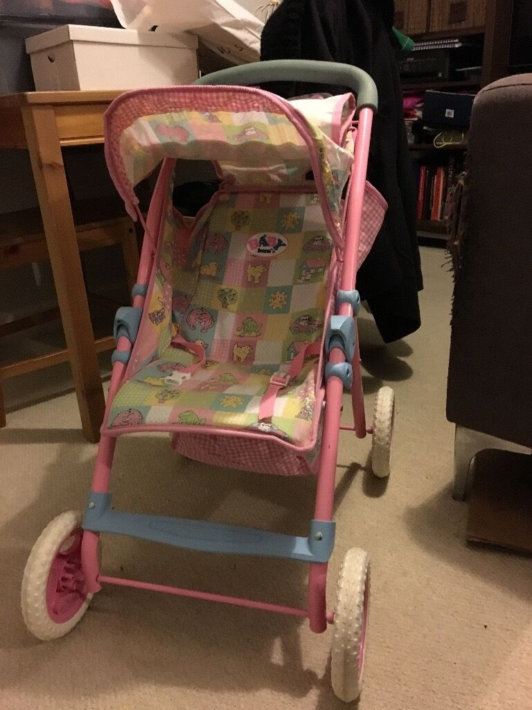 Baby Born Doll Pushchair And Magic Cot 1990s Version