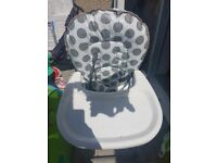 Free. Highchair and stroller