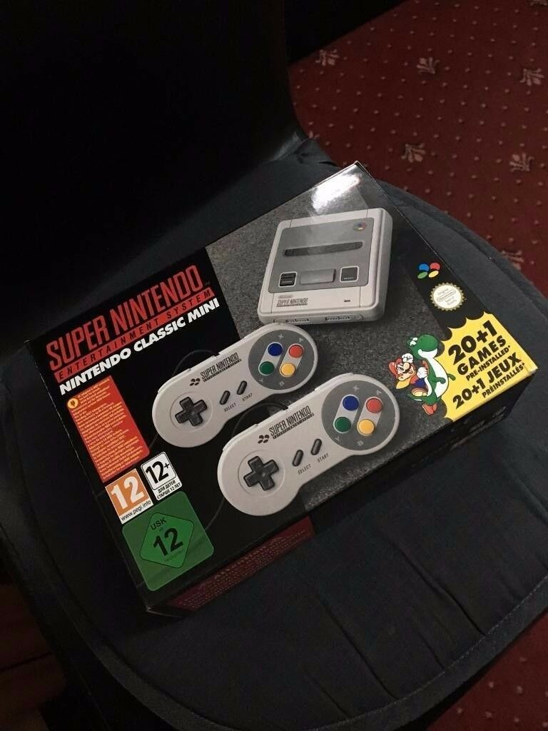 Snes mini console classic (Super Nintendo) - Played only 2hrs!