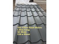 Brand New Tile Effect Roofing Sheets
