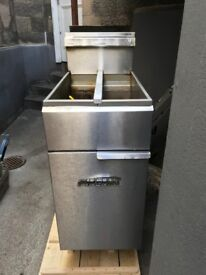 Imperial Twin Basket & Twin Tank Gas Fryer 2 x 14L. Good Working Condition.