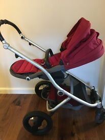 Britax Affinity Stroller Pushchair with Red Colour Pack.