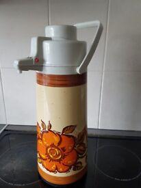 Vintage Retro Thermos Pump Flask
