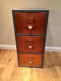 Made Stow Industrial Filing Cabinet in Copper