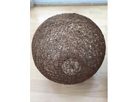 """12"""" Brown Wicker Rattan Ball Easy Fit Ceiling Light Shade"""