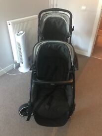 Graco tandom double buggy & car seat