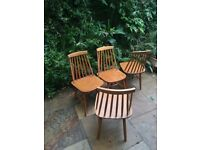 Ercol style dining chairs