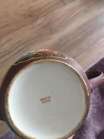 Antique Japanese tea pot and vase £20