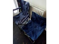 2 outdoor chairs, very good condition, ideal for fishing etc. £10 for both