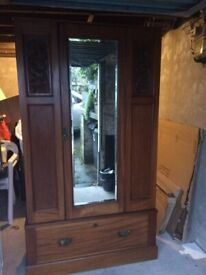 Lovely Edwardian wardrobe