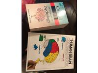Psychology dictionary and brain colouring book