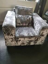 Stunning crushed velvet deep Armchair