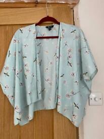 Blue kimono with dandelion pattern Size small Brand newlook Condition new