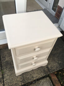 Lovely Solid Pine Bedside Table, Chest of Drawers