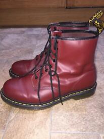Cherry red Dr Martens (size 11)