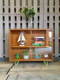 G plan vintage retro teak display unit cabinet