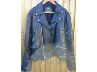 """Akaso Leather Motorcycle/Motorbike Jacket, Size Large 44"""" Chest."""
