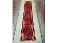 Hand Made Persian Rug Runner Hamedan 415x80 cm