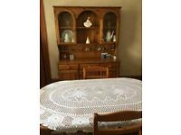 Welsh Dresser table and 5 chairs