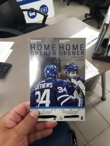 Toronto Maple Leafs Home Opener Tickets