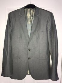 Ted Baker Tailored Fit Grey Dress Blazer Size M