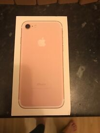 iPhone 7 128gb rose gold network O2